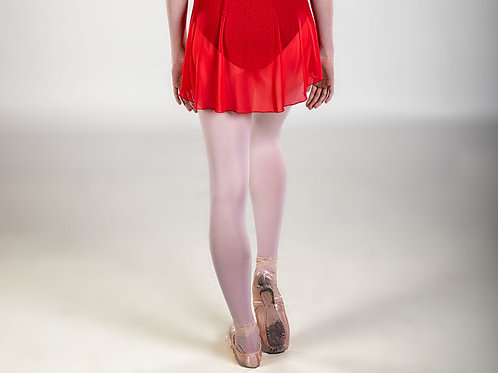 Rouge Red Classic Mesh Skirt