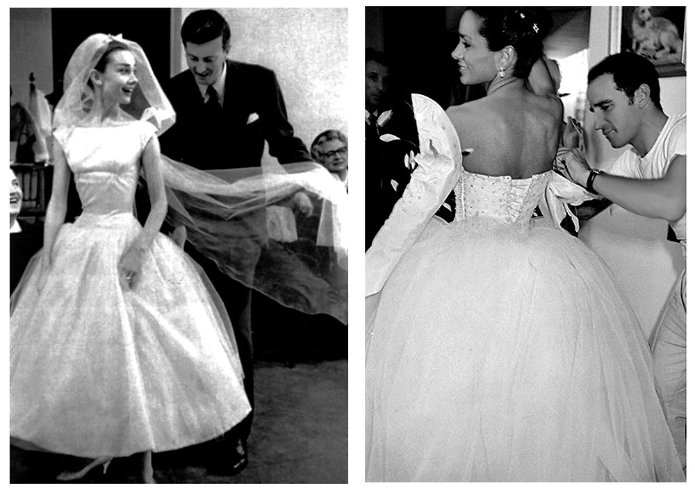 Givenchy- left and Lloyd Klein- R designers bridal