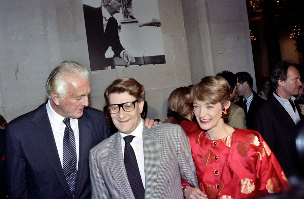 Monsieur Givenchy and Monsieur Yves Saint Laurent at the Givenchy Retrospective