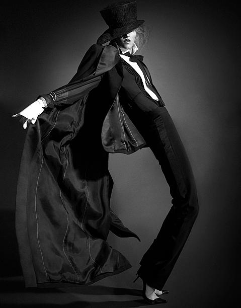 Femme Tux in Motion