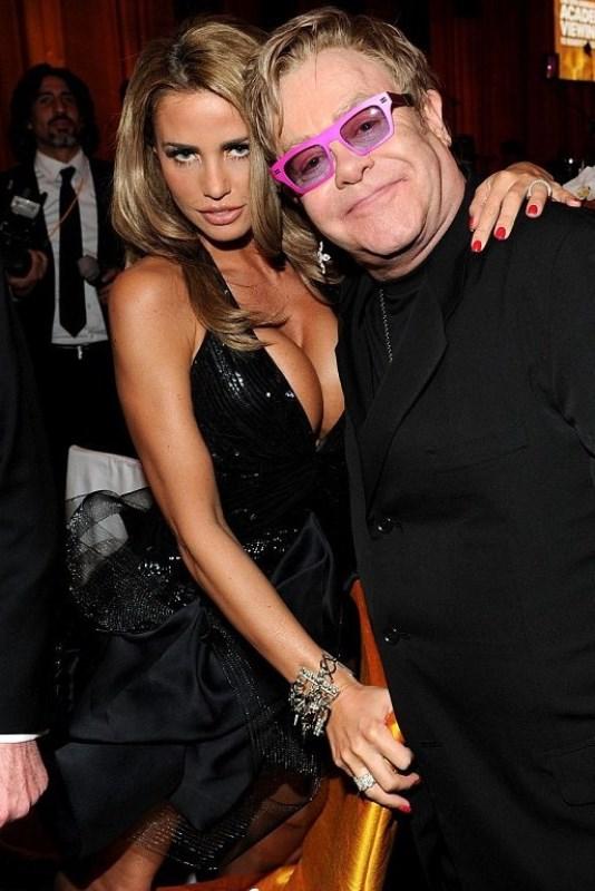 Katie Price and Elton John
