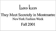 Lloyd Klein Runway Fall Winter 2001/2002 - Montmartre Theme