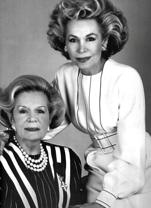 Portrait of Retail Mavens, Martha Phillips (seated) and her daughter Lynn Manulis at her side.