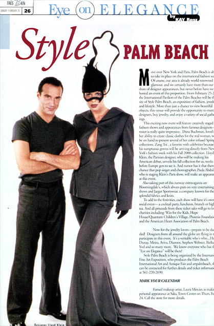 Style Palm Beach article featuring Lloyd Klein