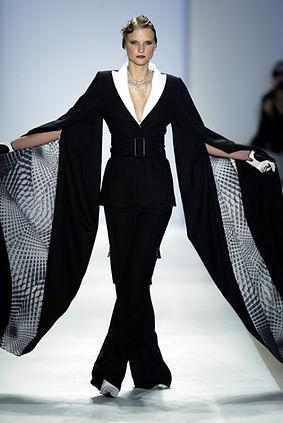 Image of model on the Lloyd Klein runway at New York Fashion Week