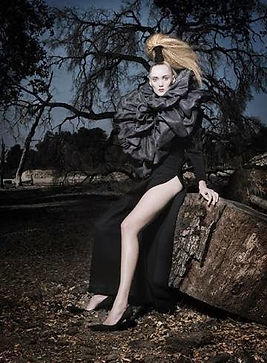 fashion editorial image featuring Lloyd Klein Couture