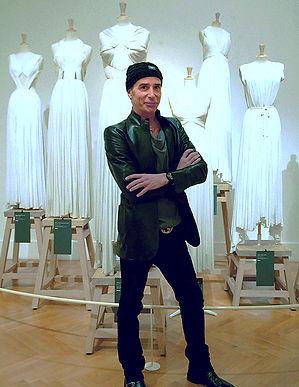 Image of Lloyd Klein commemorating his visit to the Madame Gres Exhibit in Paris
