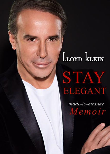 Stay Elegant Book cover featuring a portrait of fashion designer Lloyd Klein