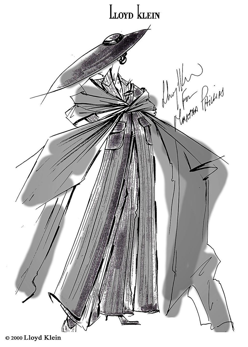 Lloyd Klein sketch for Martha Phillips