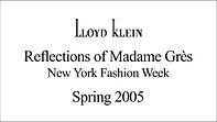 Lloyd Klein Spring Summer 2005 - New York Fashion Week - Reflections of Madame Gres