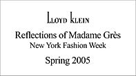 Lloyd Klein Spring Summer 2005 - New York Fashion Week - Reflections of Madame Gres