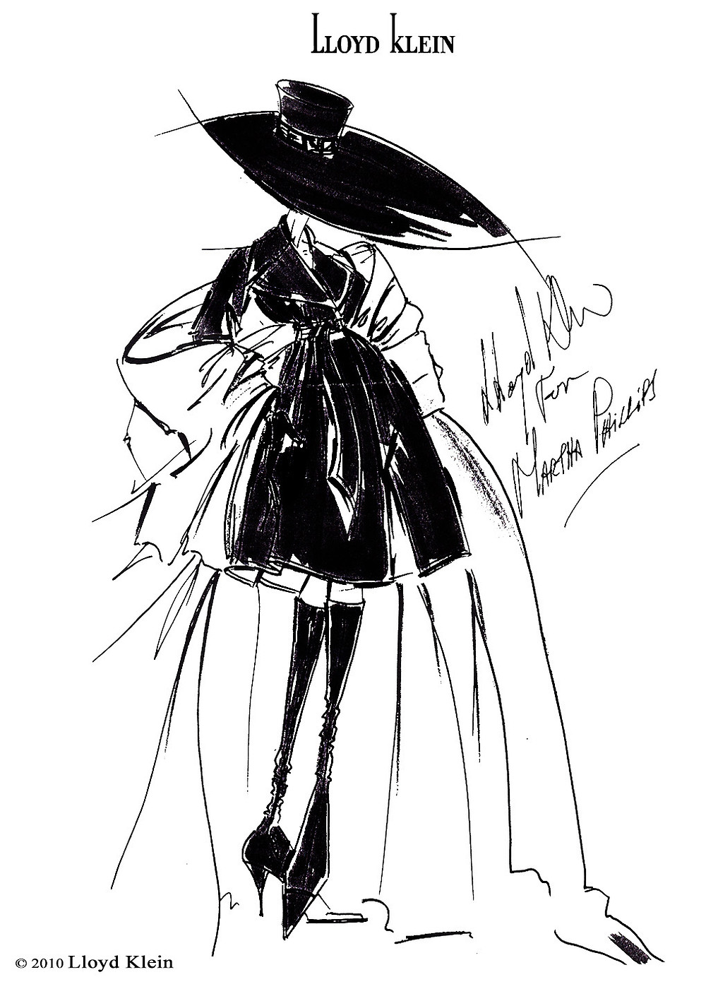 hand drawn sketch for Marthas by Lloyd Klein