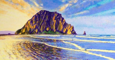 Here is my full painting of Morro Rock (
