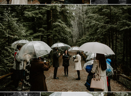 Rainy West Coast Wedding