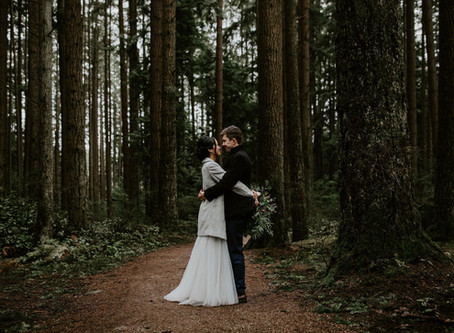 S&R's Intimate Forest Wedding // Pacific Spirit Park