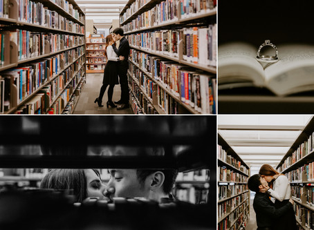 Intimate Library Elopement