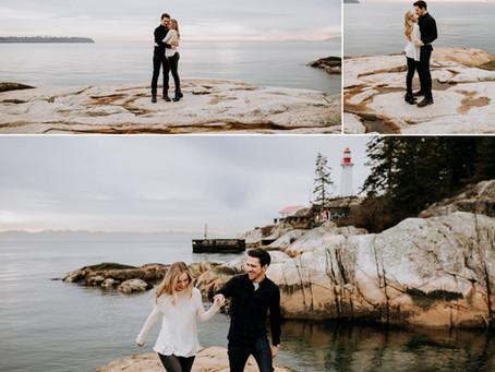 Cozy Lighthouse Park Engagement
