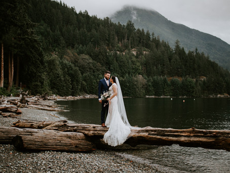 Romantic Lions Bay Wedding