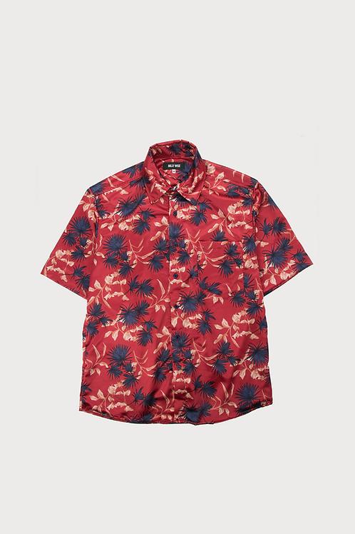 Red Flowered Short Sleeve