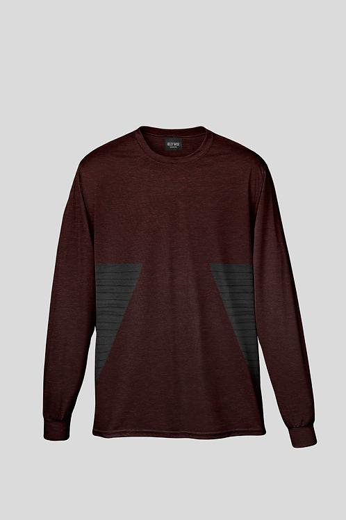 Wise Fluted Dark Jaspe Long Sleeve T-shirt