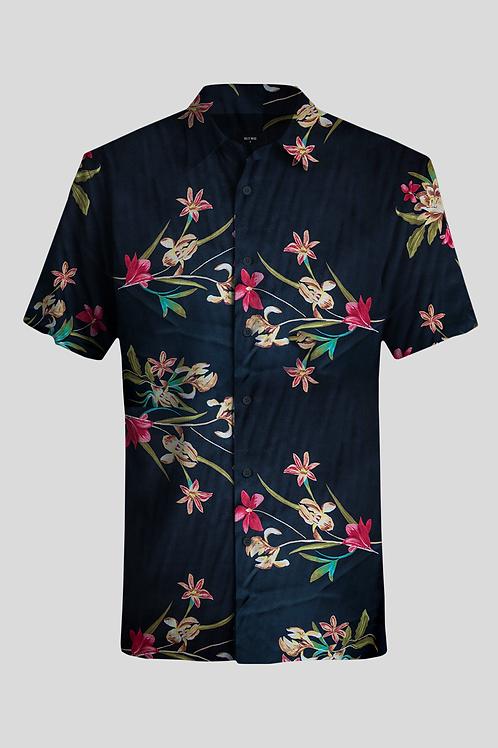 Short Sleeve Shirt Black Nature