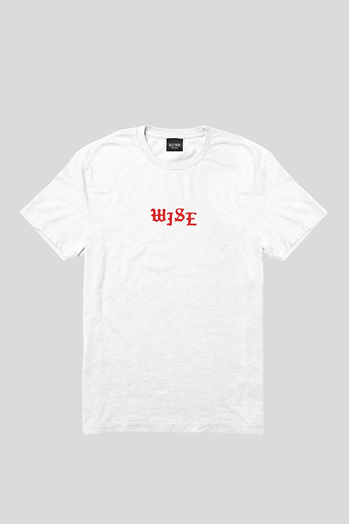 Short Sleeve Red Wise T-shirt White