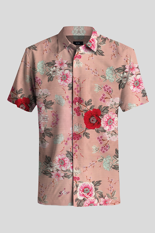 Short Sleeve Shirt Pink Nature