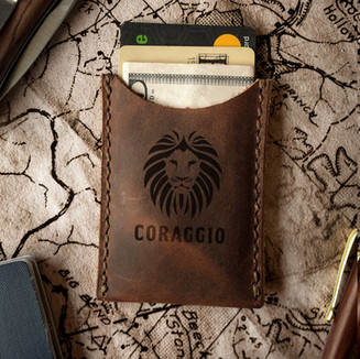 RUSTIC LEATHER CARD HOLDERS