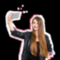 dynasty red teenage girl in black leathe
