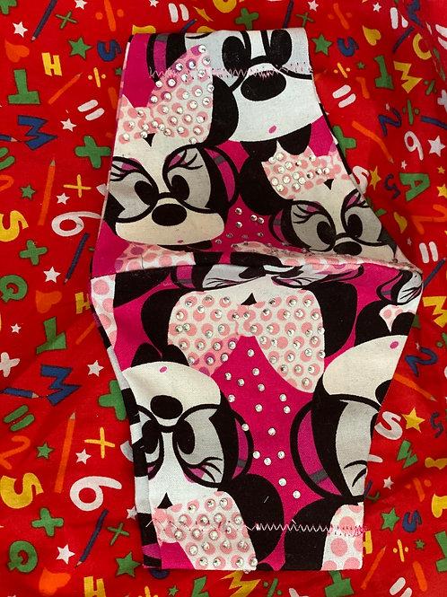 Minnie mouse Rhinestone large mask