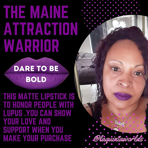 Warrior /purple matte lipstick