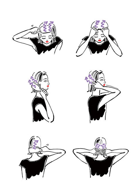 ELLEgirl 頭皮マッサージ プロセスカット