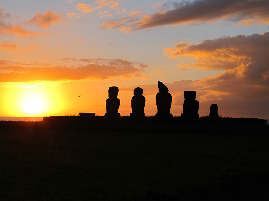 "Como  ""chegou"" o Moai?"