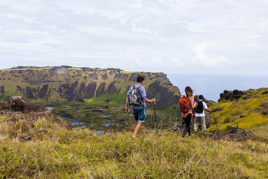 Devastação na Ilha de Páscoa.