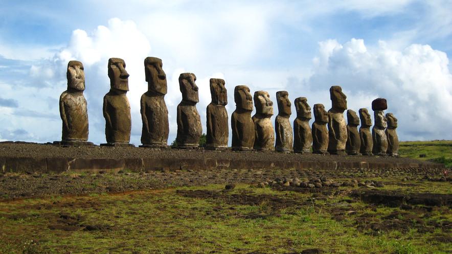 """O """"caminhar"""" do moai"""