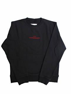 メゾン マルタン マルジェラ(MAISON MARGIELA) メンズ トップス スウェット トレーナー ロゴ 2color フロントMAISON MARGIELAロゴ刺繍付きスウェット 白/黒 S50GU0166 A25503 101/900 (R85800)