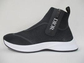 2020年春夏新作 ディオールオム(DIOR HOMME) メンズ 靴 スニーカー ロゴ ジップ部分DIORロゴプリント・ソールロゴ付サイドジップハイカットスニーカー