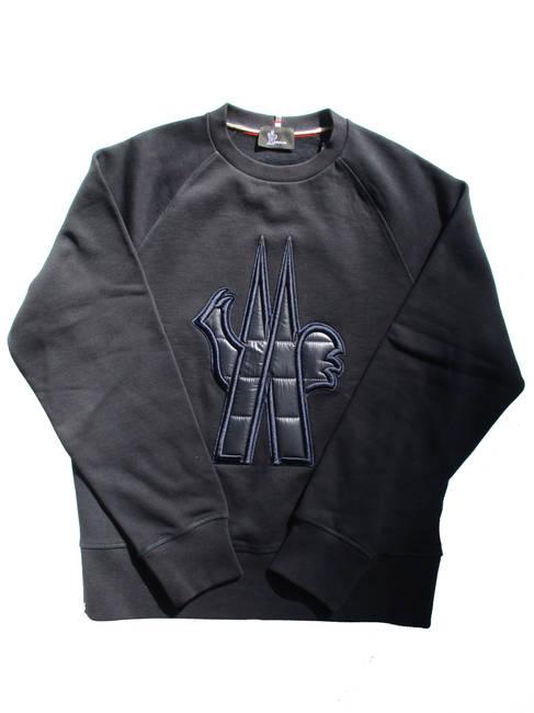モンクレールグルノーブル MONCLER GRENOBLE メンズ トップス トレーナー スウェット フロント部分キルティングロゴ入りスウェットシャツ ネイビー 8G70800 80451 740