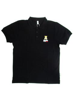 メンズ トップス 半袖 ポロシャツ 2color MOSCHINOベアーロゴ入りポロシャツ ホワイト/ブラック 1301 8111 0555 / 0001