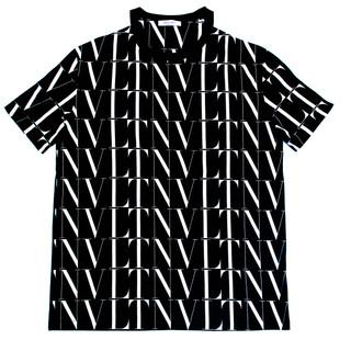 ヴァレンティノ(VALENTINO) メンズ トップス Tシャツ 半袖 ロゴ ショルダーライン・VLTN総柄ロゴ付きTシャツ 黒 バレンチノ バレンティノ ヴァレンチノ UV3MG08H 6LG 0NI