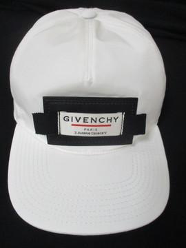 ジバンシー GIVENCHY メンズ 帽子 キャップ ロゴ ユニセックス可 レザーパッチロゴ付きキャップ ホワイト BPZ003 P059 116