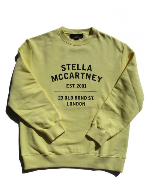 ステラマッカートニー(STELLA McCARTNEY) メンズ トップス スウェット トレーナー ロゴ フロントSTELLA MCCARTNEYロゴプリント付スウェット イエロー 601847 SMP83 7052