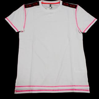 モスキーノ(MOSCHINO) メンズ トップス 半袖 Tシャツ 2color 蛍光 肩ロゴライン/バックロゴ入りコットンTシャツ ブラック/ホワイト 1919 8104 0001 / 0555