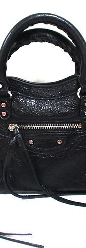 バレンシアガ(BALENCIAGA) レディース 鞄 バッグ 定番型 クラシック ナノシティ ショルダーストラップ/ミラー付きレザーバッグ ブラック 50555 D94JN 1000