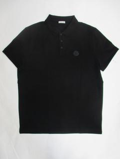 2020年春夏新作 モンクレール(MONCLER) メンズ トップス シャツ ポロシャツ 半袖 ロゴ 2color チェスト部分ラバーロゴ付ポロシャツ 白/黒 8A70200 84556 004/999