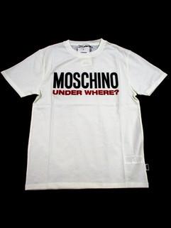 モスキーノ(MOSCHINO) メンズ トップス Tシャツ 半袖 ロゴ 2color ビッグMOSCHINOロゴ・ロゴタグ付きTシャツ 白/黒 A1915 8103 1/555