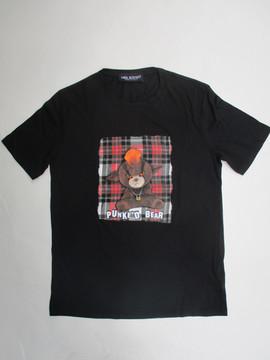 ニールバレット(Neil Barrett) メンズ トップス Tシャツ 半袖 ロゴ 2color フロントPUNKED BEARフォトプリント付きカットソー 白/黒 PBJT575B M526S 1076 / 607