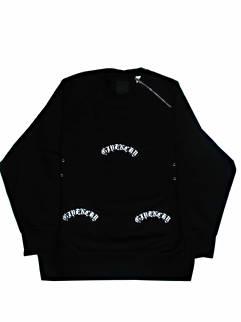 ジバンシー(GIVENCHY) メンズ トップス スウェット トレーナー ロゴ 裏起毛・ネックロゴ刻印ジップ・フロントロゴ・裾GIVENCHYロゴ刺繍付オーバーサイズスウェット ブラック BMJ0C23 Y69 001 (R176000)