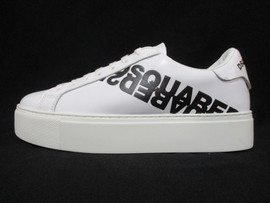 ディースクエアード(DSQUARED2) レディース 靴 スニーカー ロゴ DSQUARED2ロゴ・反転ロゴプリント・ソールカナダロゴ付きスニーカー ホワイト SNW0008 01501675 M072