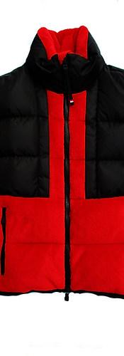 モンクレールグルノーブル(MONCLER GRENOBLE) メンズ アウター ダウン ジャケット ロゴ 2color MONCLERロゴワッペン取り外し可・ジップ部分MONCLERラバーロゴ・サムホール付きダウン 黒/赤 8G50700 809EG 999/453